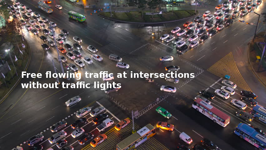 free flowing traffic a tintersections